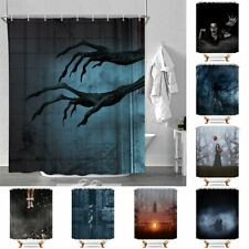 Halloween Ghost Waterproof Polyester Bathroom Shower Curtain With Free 12 Hooks