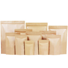 Carta kraft Sacchetto Di Stagnola Richiudibili Zip Lock & Stand Up Pouch Heat Seal-FOOD GRADE