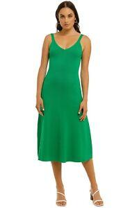 Country Road Rib Slip Knit Dress in Vivid Green Size 12