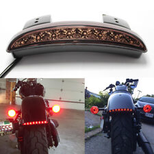 Motorcycle Smoke Red LED Stop Brake License Plates Tail Light FOR Harley XL 883