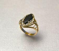 Antique Onyx  & Gold Ring,  'ca 1930