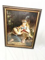 Framed art A special moment by Emile Munier print wall hanging custom framed