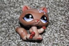 Littlest Pet Shop Brown Raccoon #543 Purple Flower Eyes LPS Toy RARE VHTF Hasbro