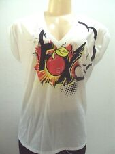FOX RACING CHERRY POP VNECK ROLL SS TOP TEE SHIRT CAMI size SMALL 10-182