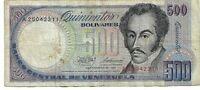 Venezuela, 500 Bolivares, 1981