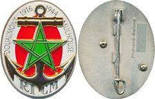 R.I.C.M, étoile vert clair sur fond rouge, (centenaire) matriculé, Pichard Balme