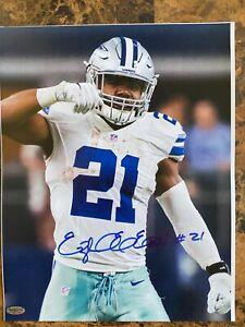 Ezekiel Elliott Autographed SIGNED 11X14 Photo Dallas Cowboys NFL -- COA