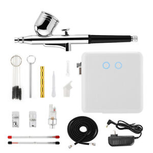 Dual Action Airbrush Compressor Set Tattoo Art Painting Makeup Cake Gravity Feed