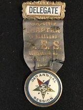 Vintage 1932 Order Of The Eastern Star 34th Maryland Annual Session Delegate Bdg