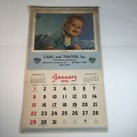 Vintage Lang and Thayer Inc. Ford Sales & Service Calendar 1950 Complete Year