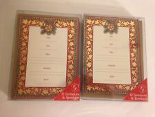 Christmas Invitations Cards Creative Papers by C R Gibson 2 pkgs 10 ct. Total 20