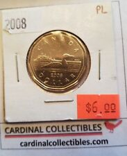 2008 Canada $1 Loonie in PL (PROOF LIKE) Condition