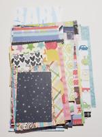 Scrap Paper Pack - 100 Pc Mixed Pattern Destash - Junk journal Card Making