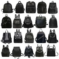 Fashion Women Girl PU Leather Backpack Travel School Rucksack Shoulder Bag LOT