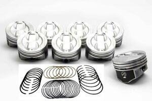"""Speed Pro Chevy 350/5.7 Hypereutectic Coated Dish Pistons+MOLY Rings Set +.040"""""""