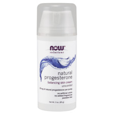 NOW Natural Progesterone Balancing Skin Cream UNSCENTED - 3 oz.