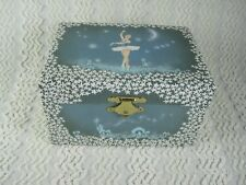 Trousselier Swan Lake Ballerina Musical Jewelry Box France WORKS