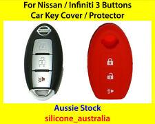 New Red 3 Button Silicone Car Key Cover for Nissan Maxima Murano Infiniti FX35