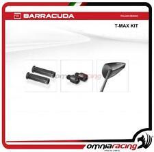 Barracuda specchietti + manopole + terminali manubrio Yamaha Tmax 500 08>11 nero