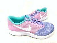 NEW! Nike Youth Girl's Flex Contact Lace Up Shoes Purple/Pink #AV8509-400 142R z