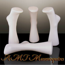 Female plastic mannequin foot, display shoes and socks, 2 hollow White feet