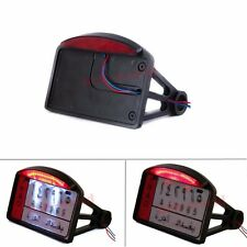SIDE MOUNT LICENSE PLATE LIGHT BRACKET LED FOR HARLEY MOTORCYCLE HORIZONTAL