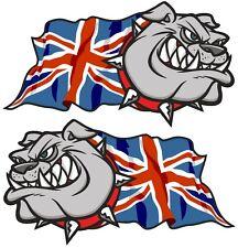 Main paire british bulldog & union jack british gb drapeau autocollant voiture 100mm med