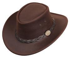 Scippis Bushman Westernhut Cowboyhut Wetterfest Unisex Hut plus Zugaben Braun