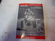 Honda 450r 2008 owners manual factory