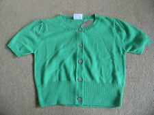 BNWT NEXT Green Cropped Cotton Cardigan 5-6 Years