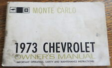 1973 Chevy Monte Carlo Owner's Manual