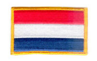 NETHERLANDS FLAG PATCH BADGE IRON ON NEW EMBROIDERED