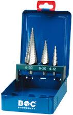 Stufenbohrersatz 3-teilig , 4 - 30mm HSS-G , Stufenbohrer , Metallbohrer