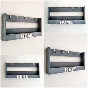 Wandschlüsselhalter Schlüsselbrett Schlüsselhalter Holz mit Ablage Handgefertigt