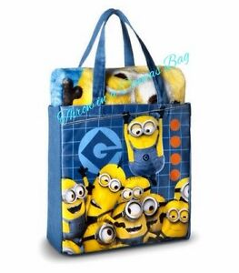 """Despicable Me Minions Silk Touch Throw in Canvas Tote - 2pcs,40"""" x 50"""", Boy/girl"""