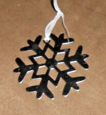 Silver Metal Snowflake Holiday Christmas Ornament