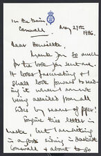Prince Charles of Wales Signed Letter 1986 on Train to Cornwall Duchy Tenants