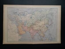 Carte Danemark Islande Iles feroé Desbuissons sengteller 1885 XIX