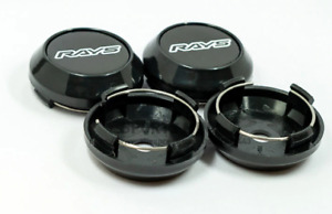 4pcs 64mm Rays Black Wheel Center Caps Rim Caps Hub Caps Japan Tokyo Rim TE37