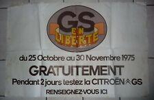 rare affiche CITROEN GS 1975 vintage poster