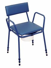 Aidapt Essex Height Adjustable Commode Chair in Blue VR161BL