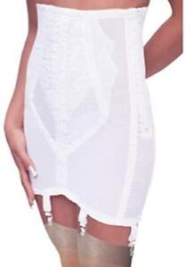 Rago Shapewear Firm Control Open White 6 Strap Garter Girdle Plus Size 40/5XL