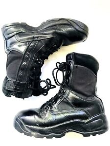 5.11+ TACTICAL 019 SERIES WOMENS 8 BLACK LEATHER  7 EYELET SIDE ZIPPER BOOT