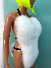 Blue ShadowBlue fox fur( pure white) bikini body.