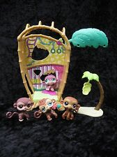 Littlest Pet Shop Bamboo Bungalow Banana Tree Monkeys #485 745 189 1493