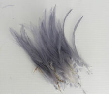 30 Quality Small Grey Very Fine Hackle Feathers for Millinery and Crafts 5-8cm