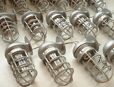 1 1940s Industrial Sconce Light Fixture Vtg Explosion Proof Globe Cage Wall