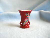 dollhouse doll house miniature PORCELAIN VASE WINE HAND PAINTED V