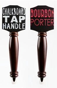 Bundle 2 Pack - Chalkboard Tap Handle / Draft Beer Lover's Kegerator & Bar