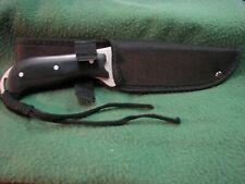 """Frost Cutlery Bush Hog Bowie 9"""" Single Blade Knife W/ Sheath 16-014 Bpw Nib"""